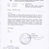 Javni poziv radi izjašnjenja - izdavanje urbanističke suglasnosti za izgradnju dalekovoda