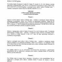 Odluka o izboru najboljeg ponuditelja - uređenje rudarske jame u Deževicama