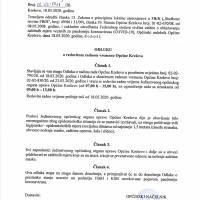 Odluka o redovitom radnom vremenu Općine Kreševo